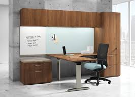 L Shaped Desk With Side Storage Multiple Finishes Desks Workstations National Office Furniture