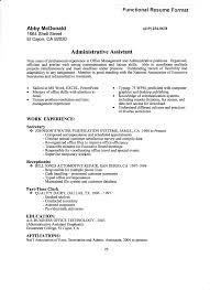 administrative clerk resume size of resumeadministrative