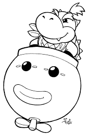 image mario bowser coloring pages cartoon jr coloring pages