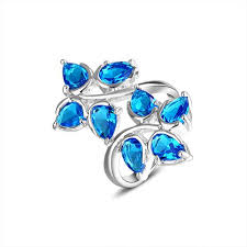 silver topaz rings images Silver ring blue stone beautiful 925 sterling silver jewelry blue jpg