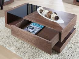 Black Glass Coffee Table Jual Cube Walnut U0026 Black Glass Coffee Table Coffee Tables From