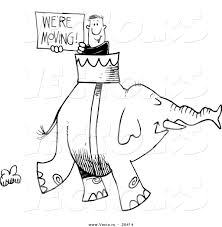 vector of a cartoon man carrying a we u0027re moving sign on an
