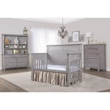 Complete Nursery Furniture Set by Evolur Santa Fe 5 In 1 Convertible Crib Storm Grey Babies