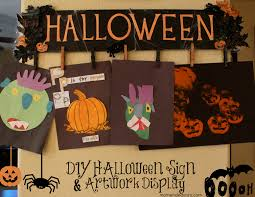 diy halloween sign u0026 artwork display