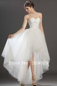 freeshipping fantastic sweetheart high low white tulle wedding