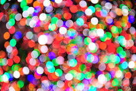 holiday bokeh with beautiful colors from new york city rockefeller