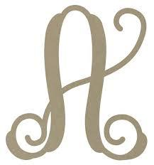 monogram letters 12 unfinished monogram letter a z
