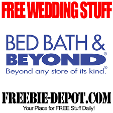free wedding sles by mail free wedding stuff bed bath beyond freebie depot
