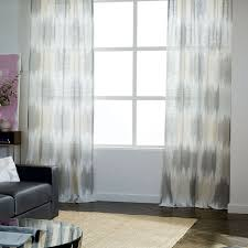 Luxury Linen Curtains Linen Cotton Ikat Blocks Curtain West Elm