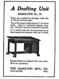 Hamilton Electric Drafting Table Completely Refinished Oversized Vintage American Industrial