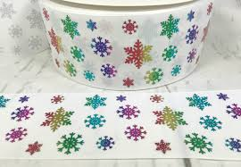 christmas ribbon wholesale 3 snowflake ribbon rainbow ribbon rainbow holographic ribbon