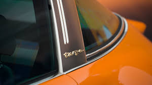 orange porsche targa stunning porsche 964 targa reimagined by singer takes the stage in