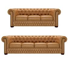 Chesterfield 3 Seater Sofa by Chesterfield 4 Seater And 3 Seater Old English Buckskin From