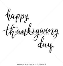 happy thanksgiving day lettering vector stock vector