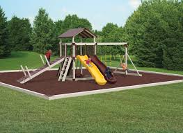 recycled rubber mulch curbing and mats for playgrounds
