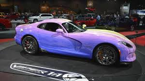 Dodge Viper Colors - one off dodge viper gtc arrives in chicago with special paint