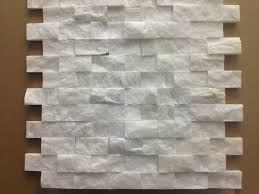 Mosaic Tile Backsplash Kitchen Italian White Carrara Split Face 1x2 Mosaic Tile For Kitchen