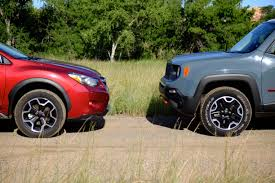 subaru xv crosstrek lifted head to head subaru xv crosstrek 2 0i vs jeep renegade trailhawk
