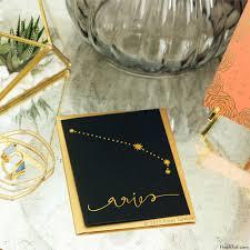 aries zodiac greeting card with metallic flash tattoos