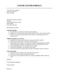 Sample Cover Letters For Internship Formats For Cover Letters Template