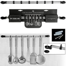 ustensile cuisine inox support mural barre a ustensiles de cuisine crédence inox 6 crochets