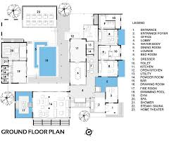 Architectural Floor Plan by Gallery Of Sachdeva Farmhouse Spaces Architects Ka 15