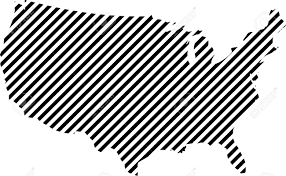 Map Of United States Of America by Striped Map Of United States Of America Usa Map Made Of Thin