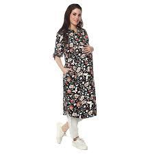 nine maternity wear printed viscose kurta set ksetfa17 7934