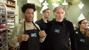 actor judd hirsch and his co star take over a wicker park bakery