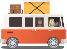 volkswagen minibus side view graphic illustration
