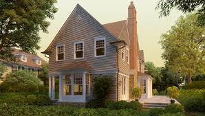 Narrow House Plan Clam Cove Shingle Style Home Plans By David Neff Architect