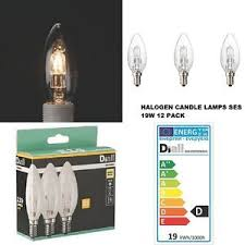 candle light bulbs for chandeliers 12 x 19 watt ses e14 eco halogen candle light bulbs dimmable