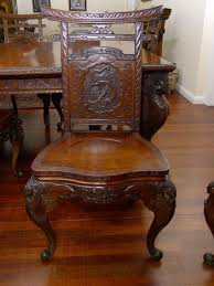 Japanese Floor Chair Uk Quality 19th C Japanese Carved Dining Table And Chairs 433684