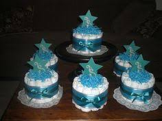 Baby Boy Shower Centerpiece by Moon And Stars Whimsical Diaper Cake Baby Shower Centerpiece Other