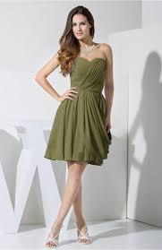 olive green black dress elegant column sweetheart chiffon knee