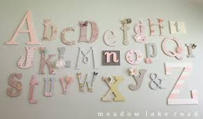 Letters For Baby Nursery Nursery Alphabet Wall A Baby Shower Activity Meadow Lake Road