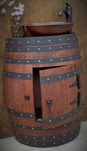 wonderful wine barrel vanity 17 reclaimed wine barrel vanity