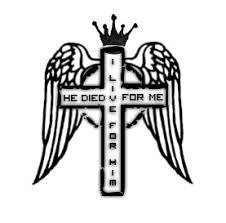winged cross cross design