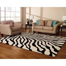 Brown Zebra Area Rug Hometrends Zebra Walmart