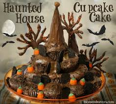 Halloween Decorations For Cakes by Haunted House Cupcake Cake