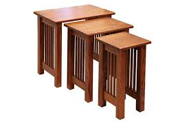 mission nesting end tables set of three