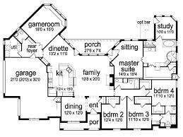 Four Bedroom Three Bath House Plans Single Story 5 Bedroom House Floor Plans Single Story 6 Bedroom