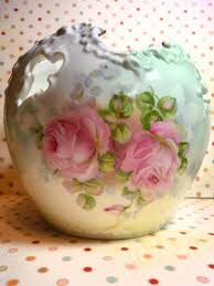 Antique Hand Painted Vases Hand Painted Roses On A Fine Porcelain Rose Bowl красивая посуда
