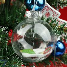 clear diy baubles shatterproof seamless plastic home
