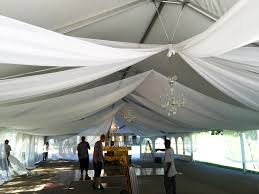 tent draping installation of sheer drape 40 x 80 hybrid wedding tent