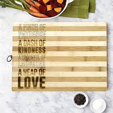 personalised cutting boards personalised bamboo chopping board