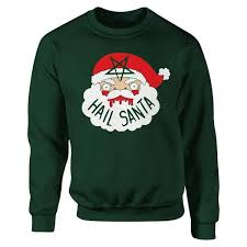 santa sweater printed and handsewn hail santa sweaters and patches by a
