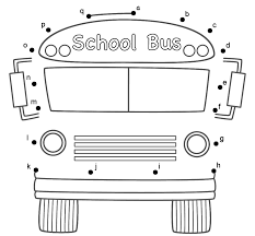 bus worksheets bus connect the dots by lower case