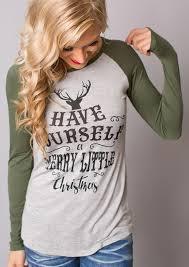 merry christmas green sleeve christmas