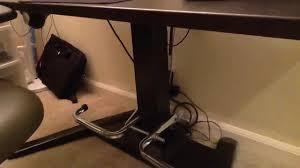 Diy Adjustable Standing Desk by Diy Foot Rest For Center Column Mayline Height Adjustable Desk
